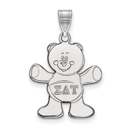 Picture of Sigma Delta Tau Sorority Sterling Silver Medium Pendant