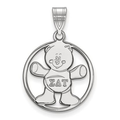 Picture of Sigma Delta Tau Sorority Sterling Silver Small Circle Pendant