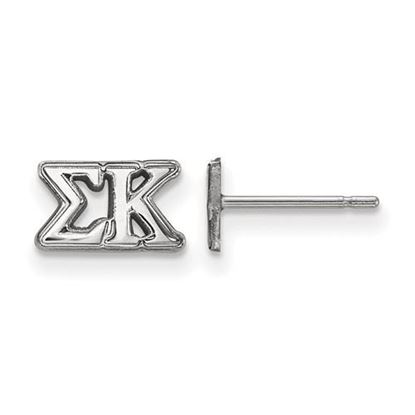 Picture of Sigma Kappa Sorority Sterling Silver Extra Small Post Earrings