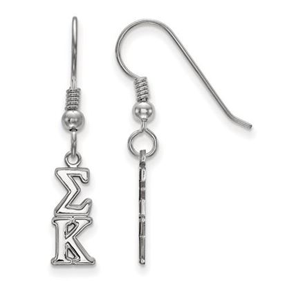 Picture of Sigma Kappa Sorority Sterling Silver Dangle Earrings