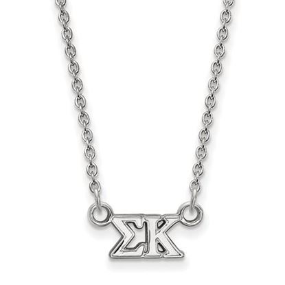 Picture of Sigma Kappa Sorority Sterling Silver Extra Small Pendant Necklace