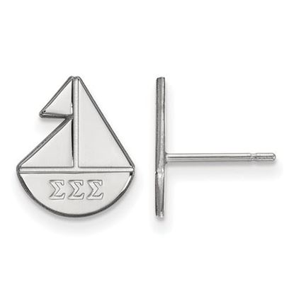 Picture of Sigma Sigma Sigma Sorority Sterling Silver Extra Small Post Earrings