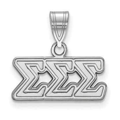 Picture of Sigma Sigma Sigma Sorority Sterling Silver Medium Pendant