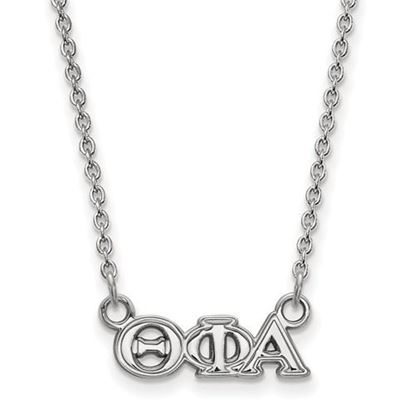 Picture of Theta Phi Alpha Sorority Sterling Silver Extra Small Pendant Necklace