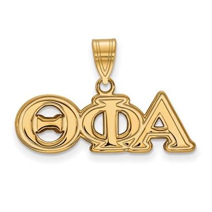 Picture of Theta Phi Alpha Sorority Sterling Silver Gold Plated Medium Pendant