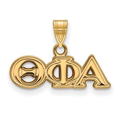 Picture of Theta Phi Alpha Sorority Sterling Silver Gold Plated Small Pendant
