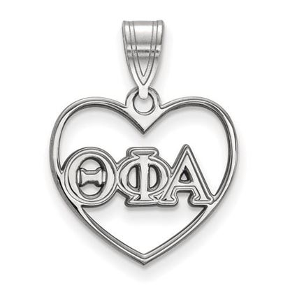 Picture of Theta Phi Alpha Sorority Sterling Silver Heart Pendant