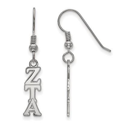 Picture of Zeta Tau Alpha Sorority Sterling Silver Dangle Earrings