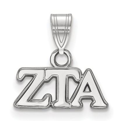 Picture of Zeta Tau Alpha Sorority Sterling Silver Small Pendant