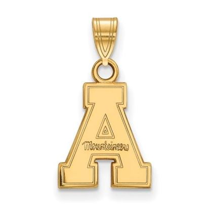 Picture of Appalachian State University Mountaineers Sterling Silver Gold Plated Small Pendant