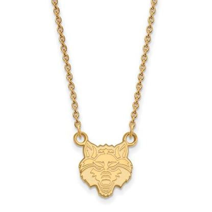 Picture of Arkansas State University Red Wolves 10k Yellow Gold Small Necklace