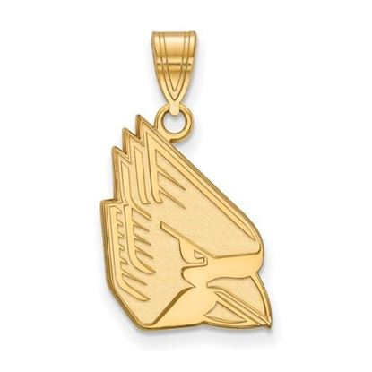 Picture of Ball State University Cardinals Sterling Silver Gold Plated Large Pendant