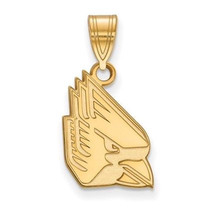 Picture of Ball State University Cardinals Sterling Silver Gold Plated Medium Pendant