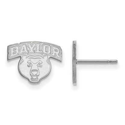 Picture of Baylor University Bears 10k White Gold Extra Small Post Earrings