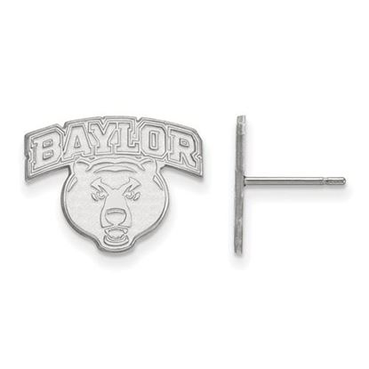 Picture of Baylor University Bears 10k White Gold Small Post Earrings