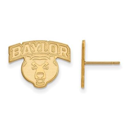Picture of Baylor University Bears 10k Yellow Gold Small Post Earrings