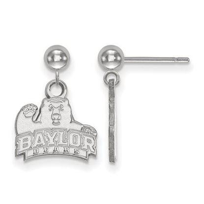Picture of Baylor University Bears 14k White Gold Dangle Earrings