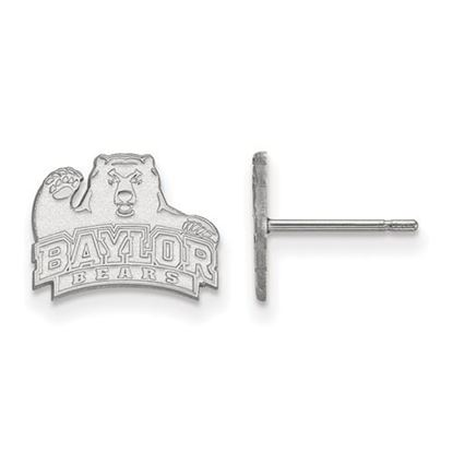 Picture of Baylor University Bears 14k White Gold Extra Small Post Earrings