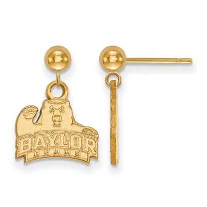 Picture of Baylor University Bears 14k Yellow Gold Dangle Earrings