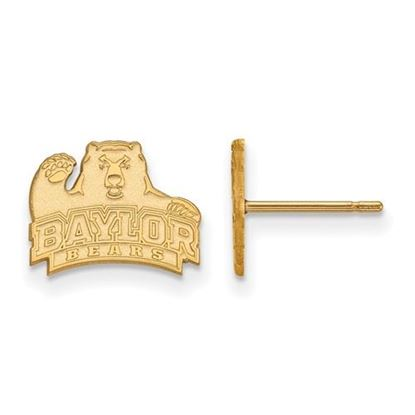 Picture of Baylor University Bears 14k Yellow Gold Extra Small Post Earrings