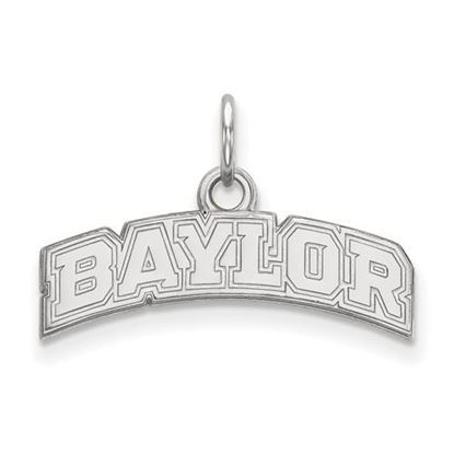 Picture of Baylor University Bears 10k White Gold Extra Small Pendant