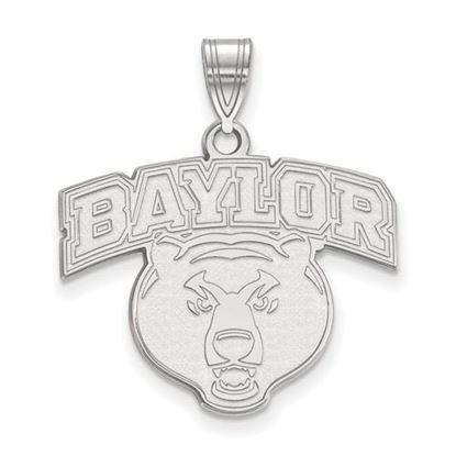Picture of Baylor University Bears 10k White Gold Large Pendant