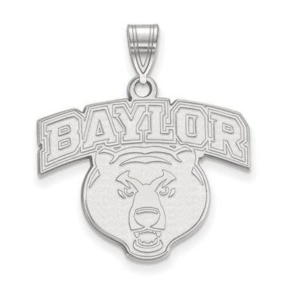 Picture of Baylor University Bears 10k White Gold Large Pendant
