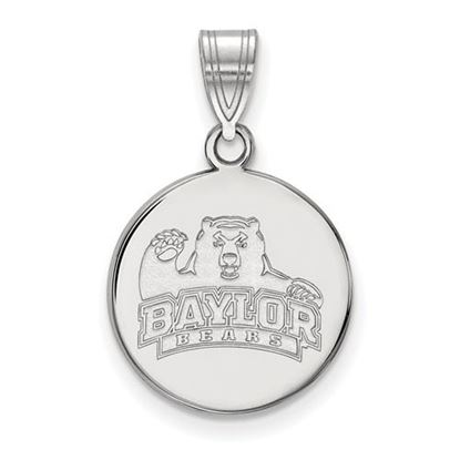 Picture of Baylor University Bears 10k White Gold Medium Disc Pendant