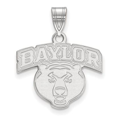 Picture of Baylor University Bears 10k White Gold Medium Pendant