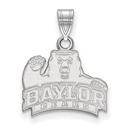 Picture of Baylor University Bears 10k White Gold Small Pendant