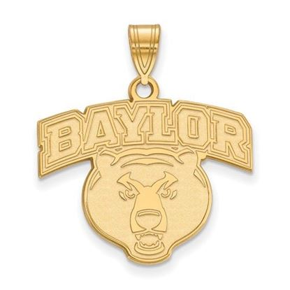 Picture of Baylor University Bears 10k Yellow Gold Large Pendant