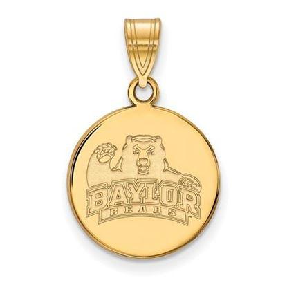 Picture of Baylor University Bears 10k Yellow Gold Medium Disc Pendant