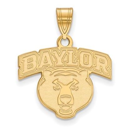 Picture of Baylor University Bears 10k Yellow Gold Medium Pendant