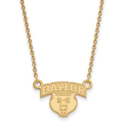 Picture of Baylor University Bears 10k Yellow Gold Small Necklace