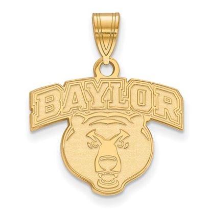 Picture of Baylor University Bears 14k Yellow Gold Medium Pendant