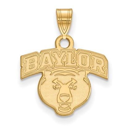 Picture of Baylor University Bears 14k Yellow Gold Small Pendant