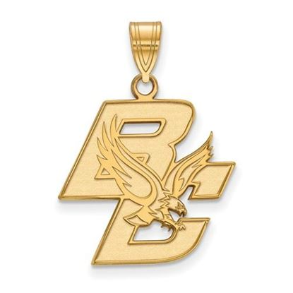 Picture of Boston College Eagles Sterling Silver Gold Plated Large Pendant