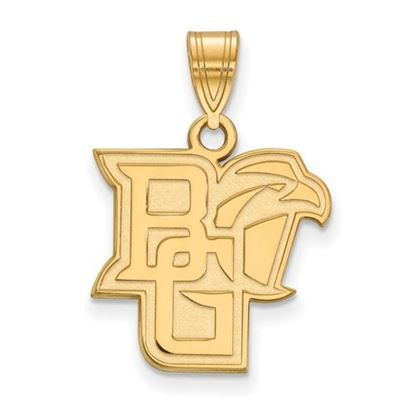 Picture of Bowling Green State University Falcons Sterling Silver Gold Plated Medium Pendant