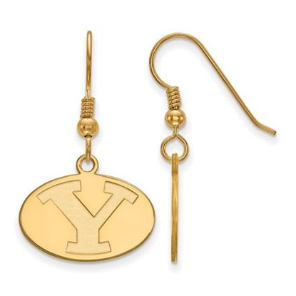 Picture of Brigham Young University Cougars 14k Sterling Silver Gold Plated Small Dangle Earrings