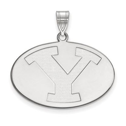 Picture of Brigham Young University Cougars 10k White Gold Large Pendant