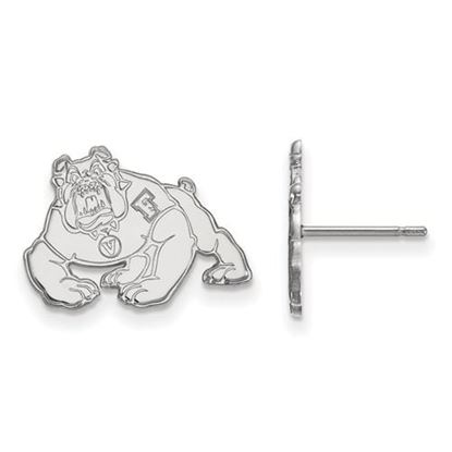 Picture of California State University Fresno Bulldogs 14k White Gold Small Post Earrings