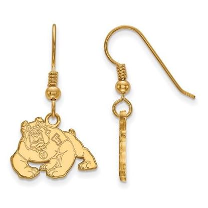 Picture of California State University Fresno Bulldogs Sterling Silver Gold Plated Small Dangle Earrings
