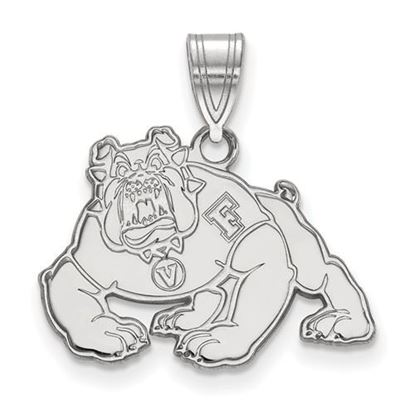 Picture of California State University Fresno Bulldogs 10k White Gold Medium Pendant