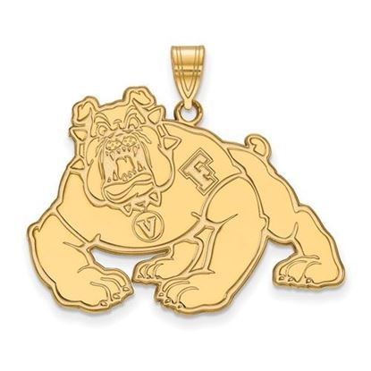 Picture of California State University Fresno Bulldogs Sterling Silver Gold Plated Extra Large Pendant