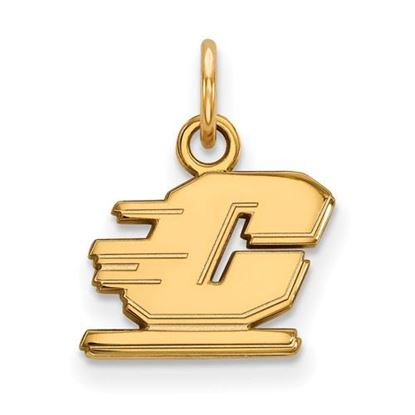 Picture of Central Michigan University Chippewas Sterling Silver Gold Plated Extra Small Pendant