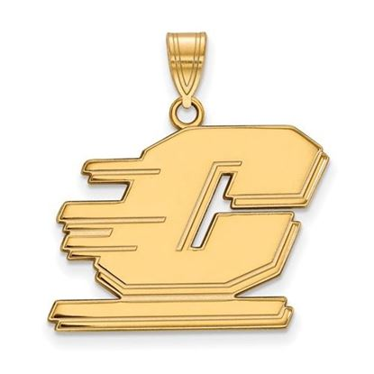 Picture of Central Michigan University Chippewas Sterling Silver Gold Plated Large Pendant