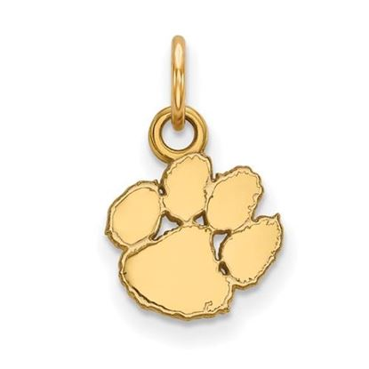 Picture of Clemson University Tigers Sterling Silver Gold Plated Extra Small Pendant