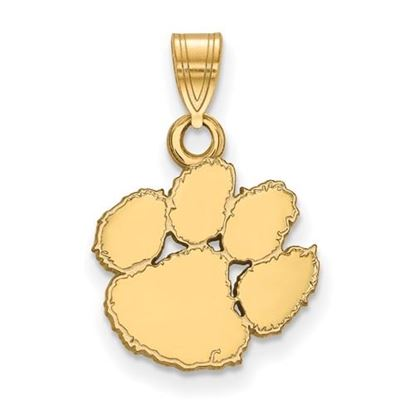 Picture of Clemson University Tigers Sterling Silver Gold Plated Small Pendant