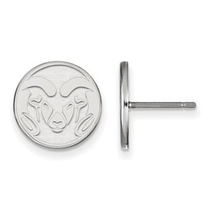 Picture of Colorado State University Rams 10k White Gold Small Post Earrings