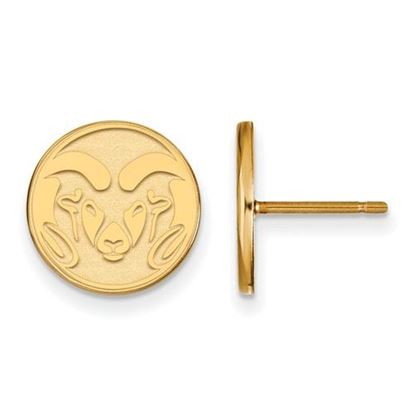 Picture of Colorado State University Rams Sterling Silver Gold Plated Small Post Earrings